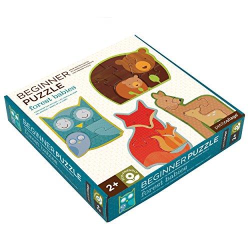 Petit Collage- Puzzle Forest Babies pour débutants, PTC080