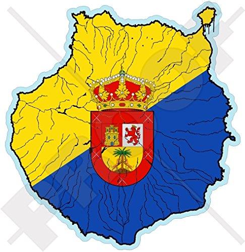 GRAN CANARIA Kaart-, KANAIRE EILANDEN Spanje, Islas Canarias Spaans 3.9