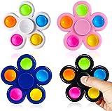 SLINGDA 4pcs Fidget Spinner Pops Spinners Jouets ,Simple Rotation Dimple Jouet...