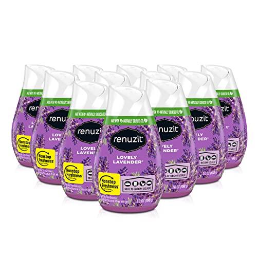 Renuzit Gel Air Freshener, Lovely Lavender, 12 Count
