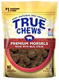 True Chews Natural Dog Treats Premium Morsels Made with Real Steak, 10 oz