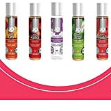 Intimate Lube, Sensual Massage Glide for Men, Woman,Couples- Lovers Variety 5 Pack 4-JO H2O Flavored & 1 JO All-in-ONE Lavender Fields Massage Glide