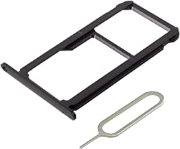 MMOBIEL Dual Sim Card Tray Compatible with Honor 8-5.2 Inch (Midnight Black) Replacement Part incl Sim pin