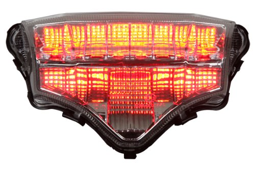 Integrated Sequential LED Tail Lights Clear Lens for 2004-2009 Yamaha FZ6