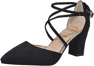 Chaussures à Bout Pointu Talons Hauts Carrés,Overdose Sexy Sandales Femme Escarpins High Heels