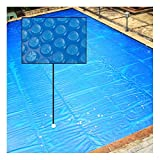 GDMING Copertura Solare per Piscina con Occhielli Pluriball Protezione per Piscine con Telaio Prevenire La Caduta delle Foglie PE Set Facile Coperta Solare, 44 Taglie