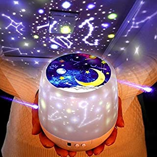 Night Lights for Kids -Luckkid Multifunctional Night Light Star Projector Lamp for Decorating Birthdays, Christmas, and Other Parties, Best Gift for a Baby�s Bedroom, 5 Sets of Film