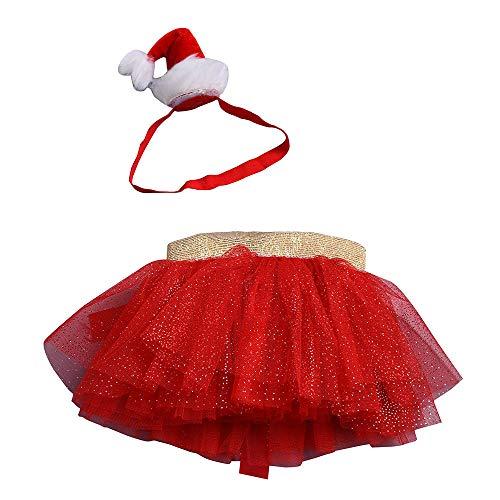 Baby Meisjes Tutu Rok Kerst Carnaval Feestjurken Xmas Outfits Kostuum Peuters Nieuwjaar 2 Stks Ballet Rokken Prinses Jurken Met Hoofdband Kleding Outfits Set 3-8 Jaar
