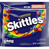 SKITTLES Darkside Sharing Size Candy, 15.6-Ounce Bag (Pack of 6)
