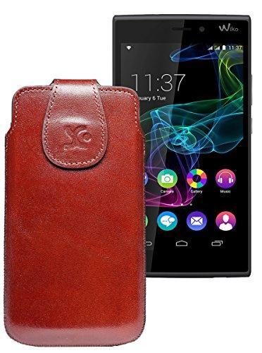 Original Suncase Tasche für / BlackBerry Leap / Leder Etui Handytasche Ledertasche Schutzhülle Hülle Hülle / in braun