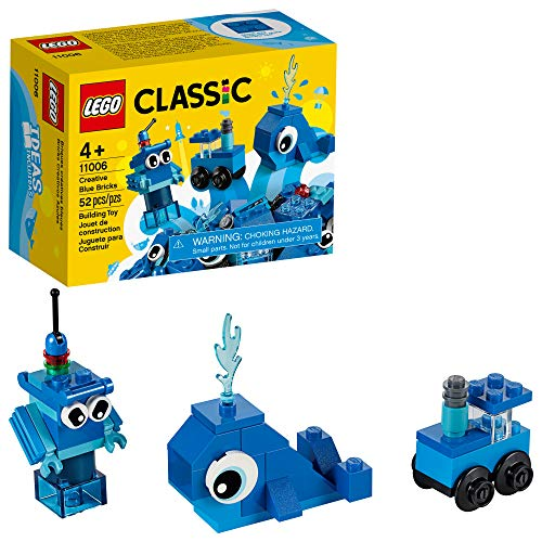 LEGO Classic Creative Blue Bricks 11006 Kids Building Toy Starter Set with Blue Bricks to Inspire Imaginative Play, New 2020 (52 Pieces)
