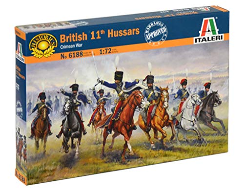 Italeri 6188 British 11th Hussars Crimean Wars soldatini in plastica scala 1:72