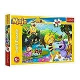 Trefl TR16361 Biene Maja und Freunde, Maya the Bee 100 Teile, für Kinder ab 5 Jahren Puzzle, Farbig