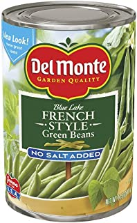 Del Monte French Style Green Beens No Salt Added, 14.5-Ounce (Pack of 8)