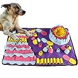 DQTYE Dog Snuffle Mat Pet Nose Work Pad de Entrenamiento Alfombra de alimentación Tejida Puppy Cat Puzzle Interactivo Manta Antideslizante Juguetes 70x50 cm