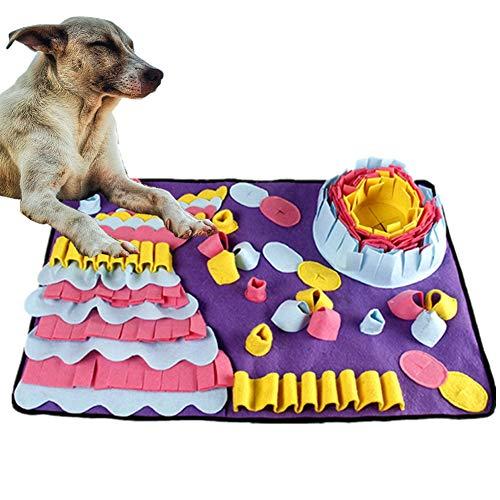 DQTYE Dog Snuffle Mat Pet Nose Work Pad entrenamiento