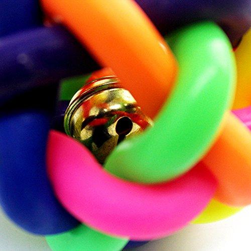 Yowablo Hundeball Katzenball Bunter Ball mit Bell-Schoßhund-Produkt-Zwergpudel-Haustier-Spielzeug (5cm,Mehrfarbig)