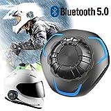 バイク ヘルメット用 ヘッドセット Bluetooth 5.0 オートバイ用 ワイヤレス 骨伝導 ヘッドフォン IP68防水 高音質 自動応答 マイク内蔵 ハンズフリー通話