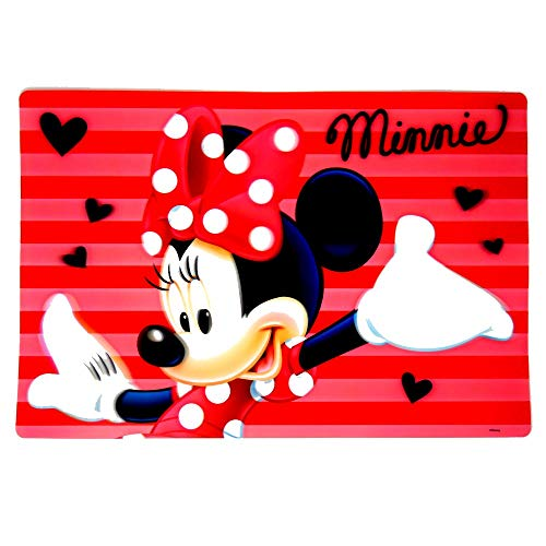 GUIZMAX Set de Table Minnie Mouse 3D sous Main