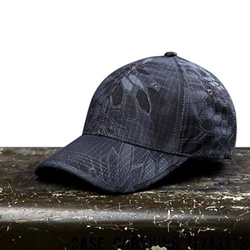 Casquette Noga Python camouflage, extérieur, casquette de l'armé, casquette camouflage forêt, casquette tactique, casquette pour la pêche, la randonnée la chasse, Black python Camouflage