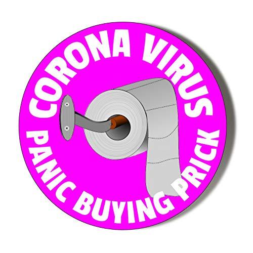 CORONAVIRUS - Prick de compra de pánico - Fondo rosa - Abridor magnético de 58 mm