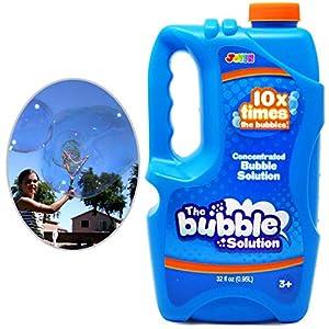 JOYIN 0.95 litros CONCENTRADA Líquido Pompas de jabón(hasta 9,5 litros)– Recarga de Profesional Líquido de Burbujas, Apto para Máquina de Burbujas, Pascua, Verano