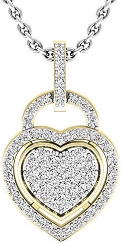 Dazzlingrock Collection 0 24 Carat ctw 10K Round Diamond Ladies Heart Pendant 1 4 CT Silver product image