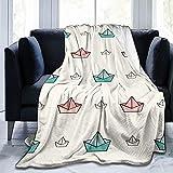 Mantas de forro polar de franela Origami para bebés, niños, hombres, mujeres, suaves y cálidas, tamaño Queen y mantas para sofá, cama, sofá de viaje, 127 x 101 cm