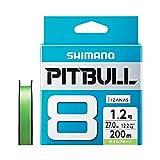 シマノ(SHIMANO) PEライン ピットブル 8本編み 200m 0.8号 ライムグリーン 18.3lb PL-M68R 釣り糸