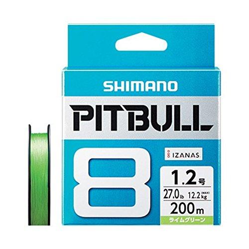 シマノ(SHIMANO) PEライン ピットブル 8本編み 200m 1.2号 ライムグリーン 27.0lb PL-M68R