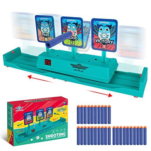 Achort Zielscheibe für Nerf, Bewegliche Elektro-Schießen Ziel, Digitale Zielscheibe mit Automatisches Zurücksetzen, Zielscheibe für Nerf N-Strike Elite, Mega, Rival Serie, Spielzeug für Kinder.