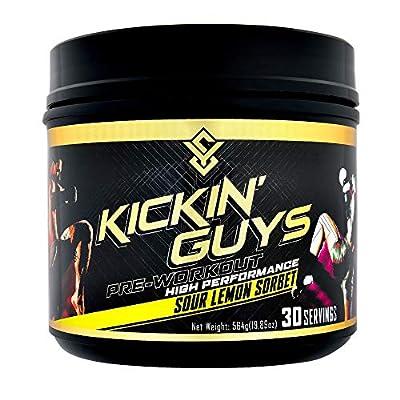 Kickin' Guys Pre Workout Powder Sports Nutrition Supplement - Explode Energy & Performance - Nitric Oxide, BCAA, Creatine, L-Glutamine, Beta Alanine, Natural Caffeine, Citrulline, Amino 30 Servings
