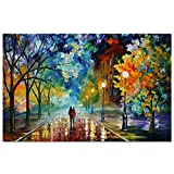 Lovers Poster Unframed Wall Decorative Art Canvas Abstract Romantic Couple Print Poster for Home Living Room Bedroom Office Modern Colorful Oil Painting Drawing Party Decor Decorations 12' x 16'