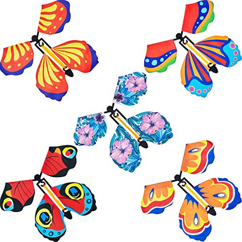 45 Pieces Magic Fairy Flying Butterfly Wind Butterfly Toy Flying Butterfly Decorations for Surprise Wedding Birthday Decoration (Classic)