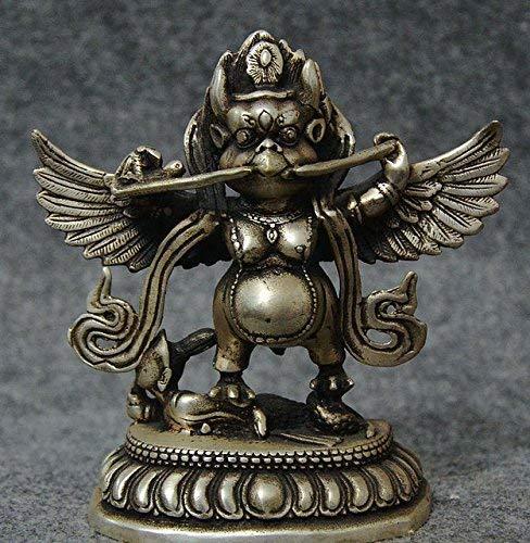 5 'Buddhismus Silber Dapeng Redpoll Winged Garuda Vogeladler Buddha Sta Figur/Geschenke/Büro/Ornament/Kunsthandwerk/Heimtextilien