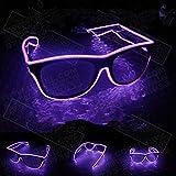 Xuba LED Blinkende EL Leuchtbrille Party Deko Beleuchtung Klassische Geschenk Bright Rep Party Brille Party Decor Rose Lila