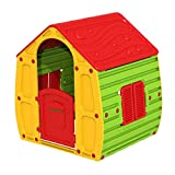 BURI Magical Kinder-Spielhaus Spielhaus Kinderhaus Kinderspielhaus Gartenhaus Villa