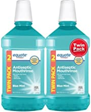 Equate Antiseptic Mouthrinse, Blue Mint, 1.5 L, 2 Ct