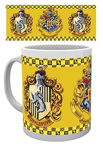 Harry Potter - Hufflepuff - Keramik Tasse - Größe Ø8,5 H9,5cm + Zusätzlich: 1 Lizenz Keramik Tasse - Größe Ø8,5 H9,5 cm