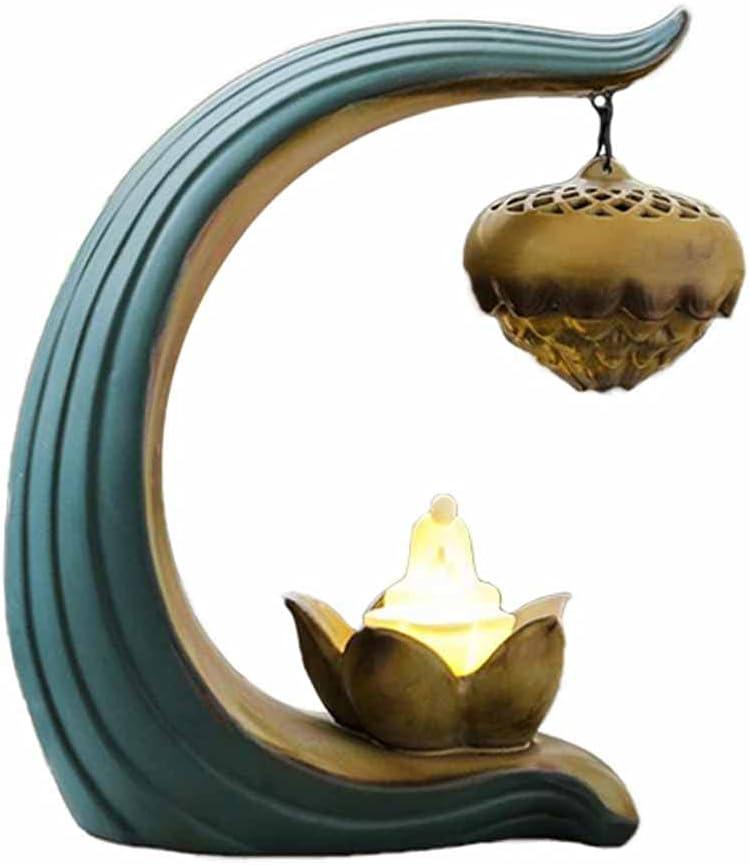 GPPZM Ceramic Incense Burner Backflow Super Special Nippon regular agency SALE held Hold Holder Lotus