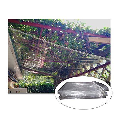 SHIJINHAO Lonas Impermeables Exterior Lona Protectora Impermeable Y A Prueba De Polvo, Transparente Para Acampar, Pesca, Jardinería, Lámina De PVC Transparente De 0,3 Mm Con Perforaciones De Metal, 24