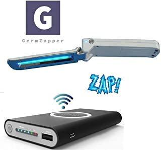 GermZapper UV Light Sanitizer Foldable Travel UV Sanitizing Wand, Sterilizer Wand For Cell Phone, Smartphone, Kids Toys, Bathroom, Cosmetics,Proven to Kill Germs