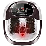 Foot Spa/Bath, 36 Massage Rollers Foot Bath with Heat and Massage Infrared Bubble, Time-settable Digital Temp Control Foot Soaker including Medicine Box and 10 in 1 Pedicure Kit to Relax