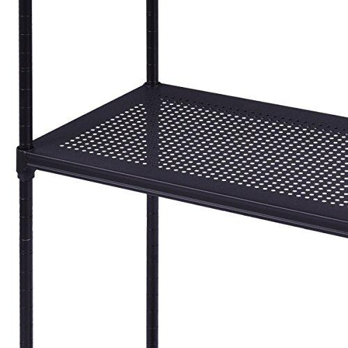 Tangkula 4-Tier Rack Display Shelf Kitchen Bathroom Storage Wire Shelving