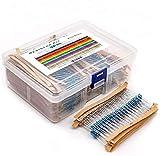 MelkTemn 2600 piezas de Resistores Electrónicos de Película de Metal 130 Valores 1 Ohm-3M Ohm 1/4 W Kit de Resistencias Electrónicos para Arduino, Experimentos y Proyectos de Bricolaje