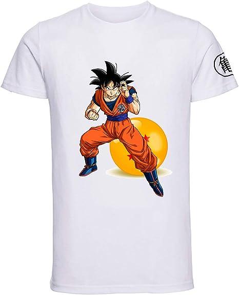 Otto - Camiseta Goku Bola de Dragon en sublimación (L ...