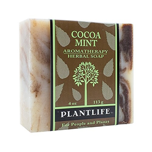 Plantlife Aromatherapy Herbal Soap Bar with Natural Ingredients - Deep Cleanse for Face, Body, Hands - Cocoa Mint - 4 oz