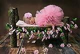 Tukistore Vestiti della Tuta del Grembiule della Ragazza della neonata della neonata Costume Foto Prop Abiti Abbigliamento con Fascia per Capelli (Rosa)