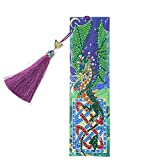 5D DIY Diamond Painting Bookmarks Creative Beaded Tassel Leather Book Marks Rhinestone Arts Crafts Gifts for Christmas,Thanksgiving,Birthday,Valentine's Day (Dragon)