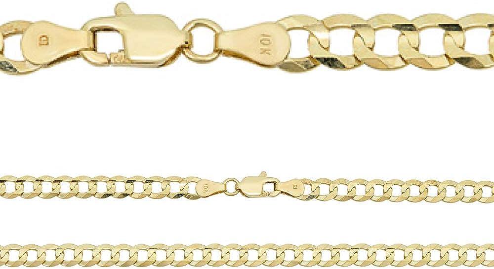 Harlembling Solid Max 62% OFF 10k Gold Mens Cuban Or Bracelet Chain 25% OFF - Link 5